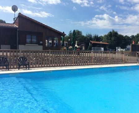 The swimming pool of the campsite Porte des Vosges, camping Grand-Est