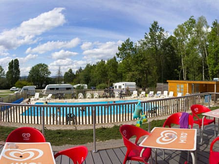 Captivating The Swimming Pool Of The Campsite Porte Des Vosges, Campsite A31